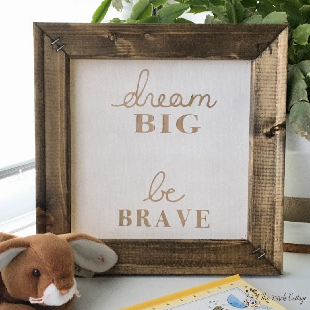 Reverse Canvas Sign Wall Art by The Birch Cottage