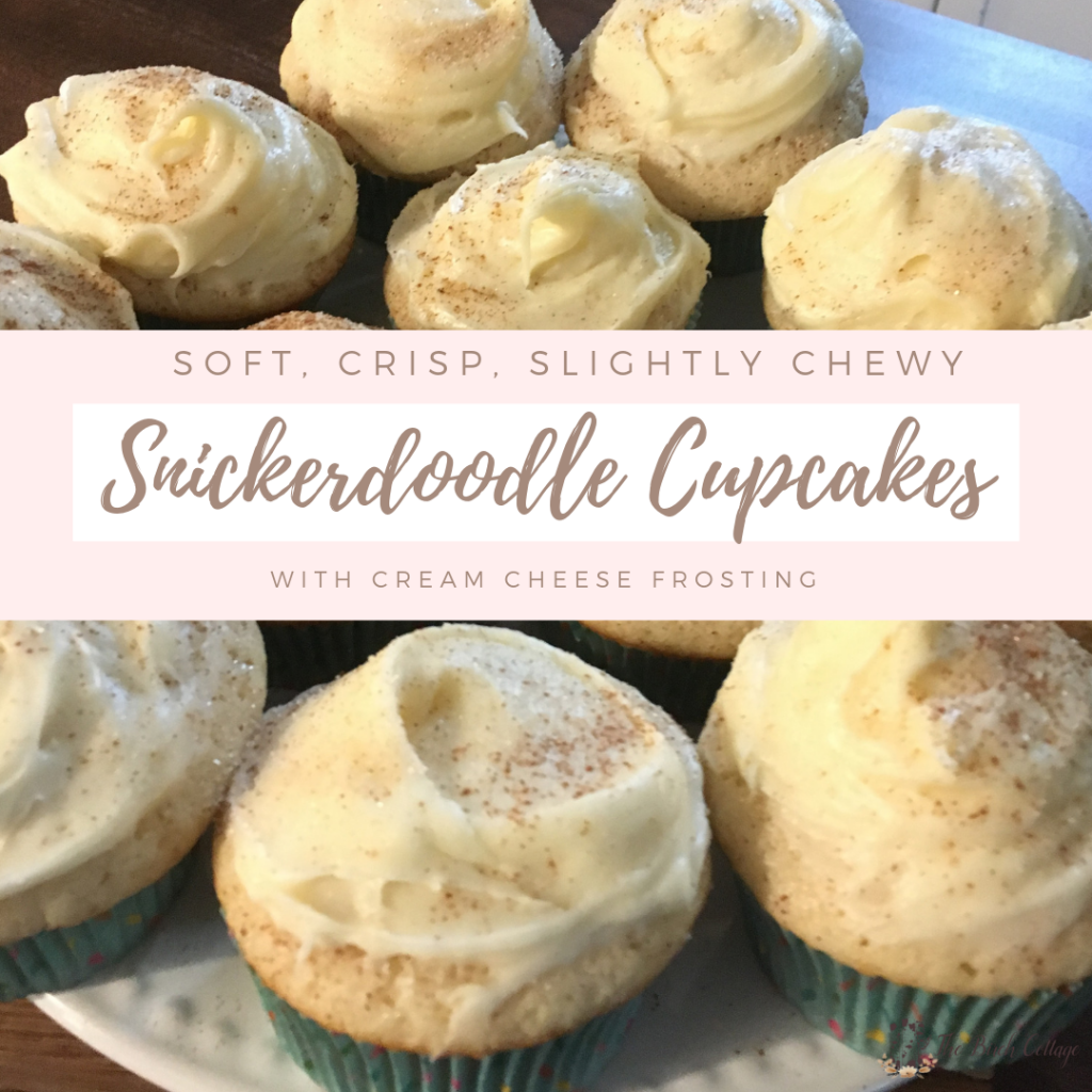 Snickerdoodle Cupcakes Recipe by The Birch Cottage