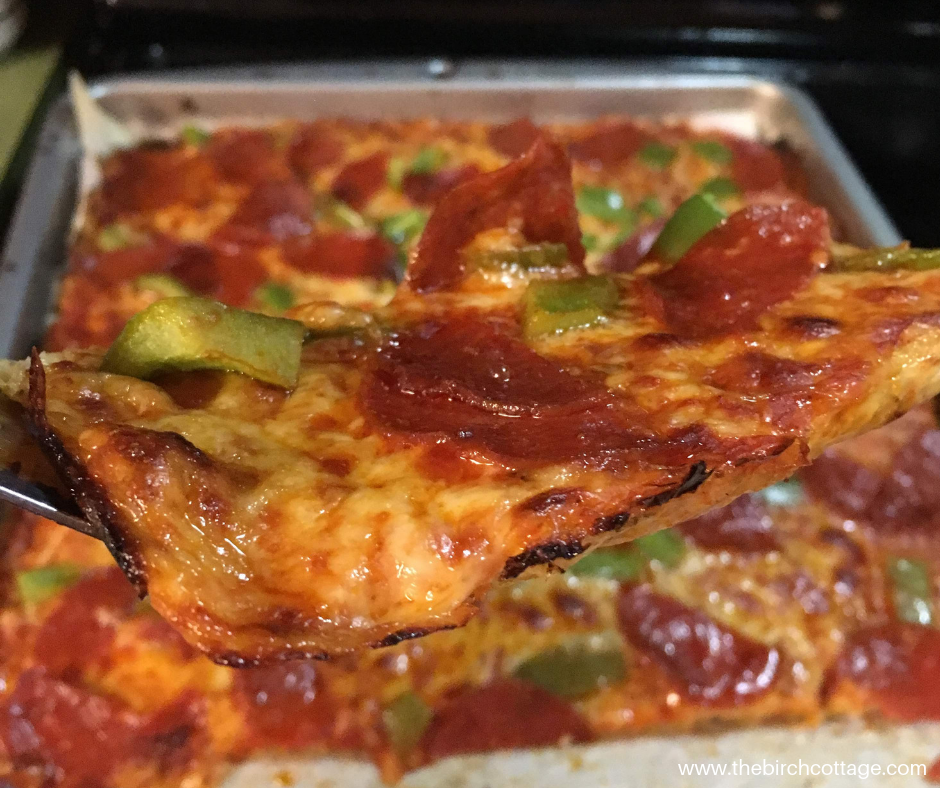 Cauliflower Crust Pizza Recipe by The Birch Cottage