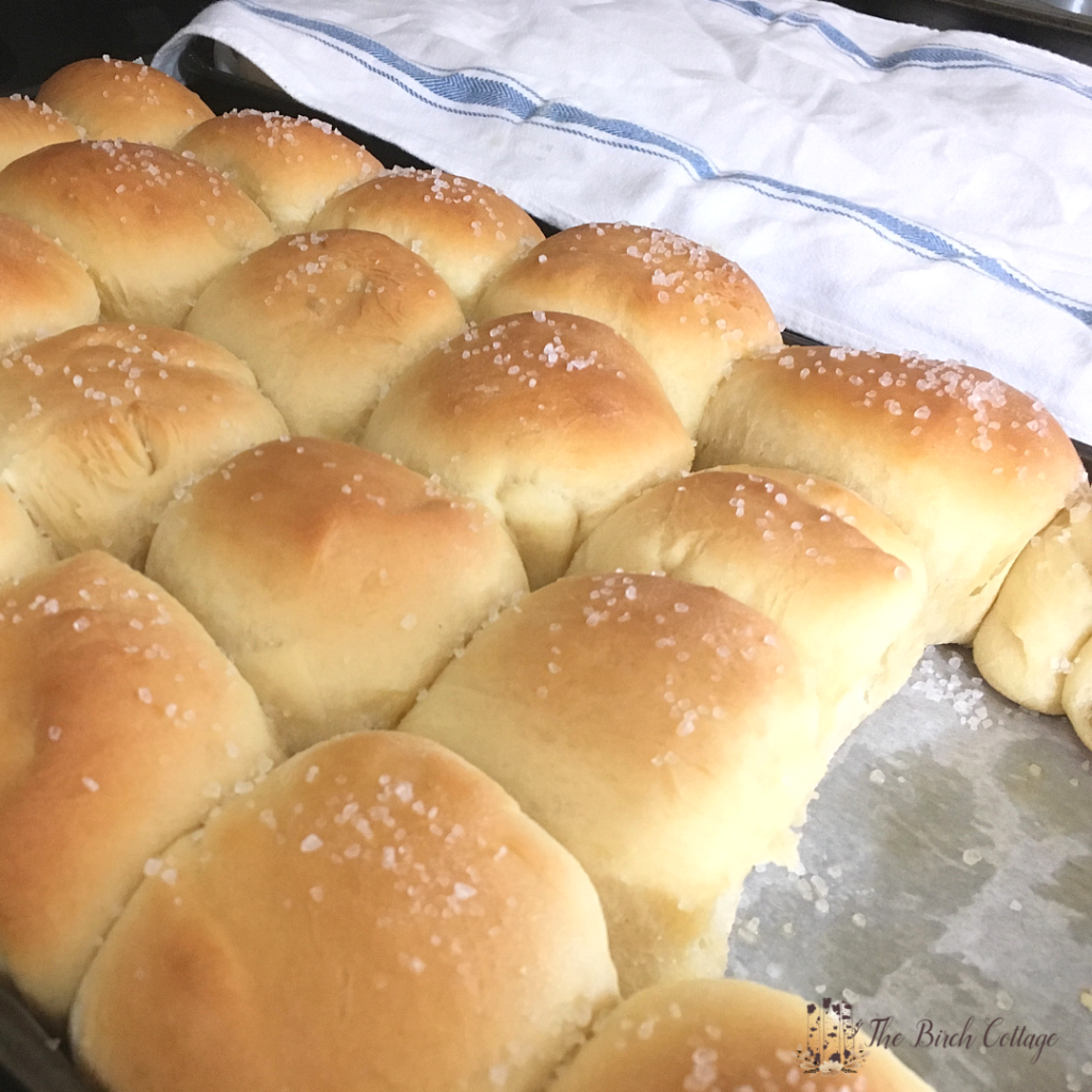 Parker House Rolls with Sea Salt Recipe by The Birch Cottage