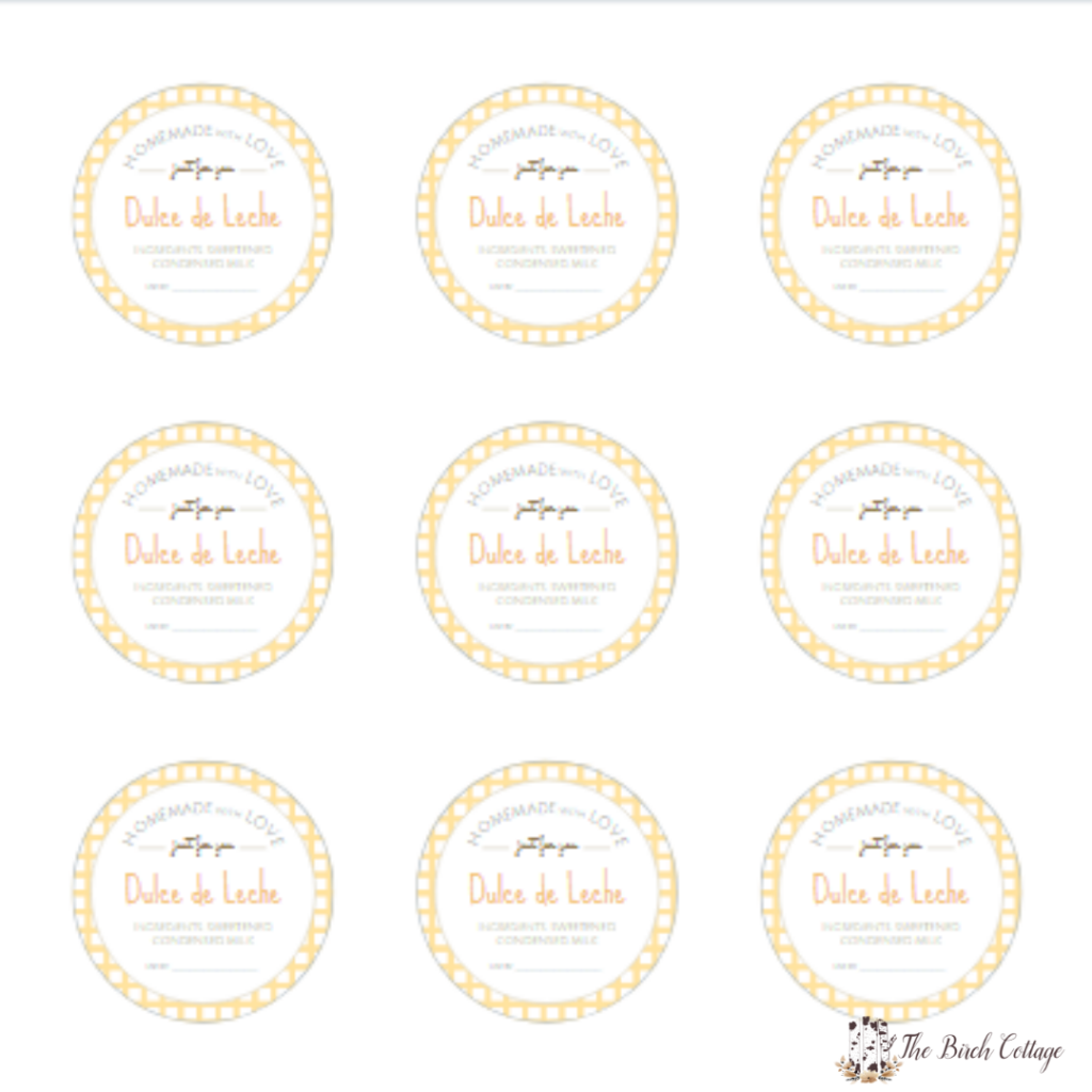 image relating to Printable Mason Jar Label named Totally free Printable Mason Jar Labels for Dulce de Leche - The