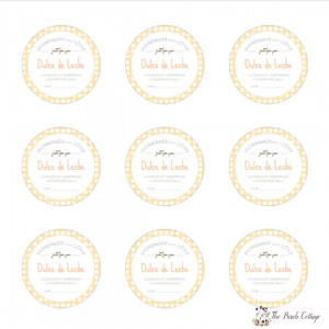 Dulce de Leche Printable Labels by The Birch Cottage
