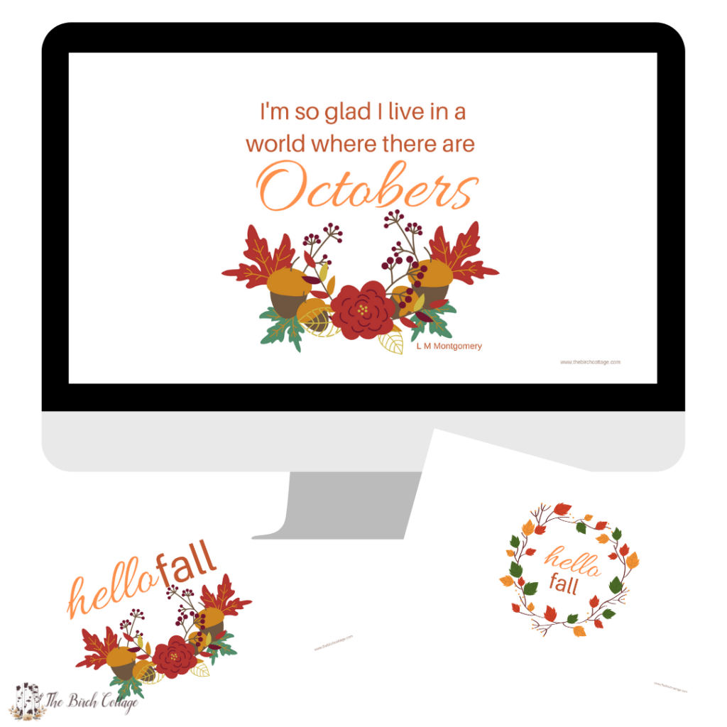 Fall Digital Wallpaper from The Birch Cottage