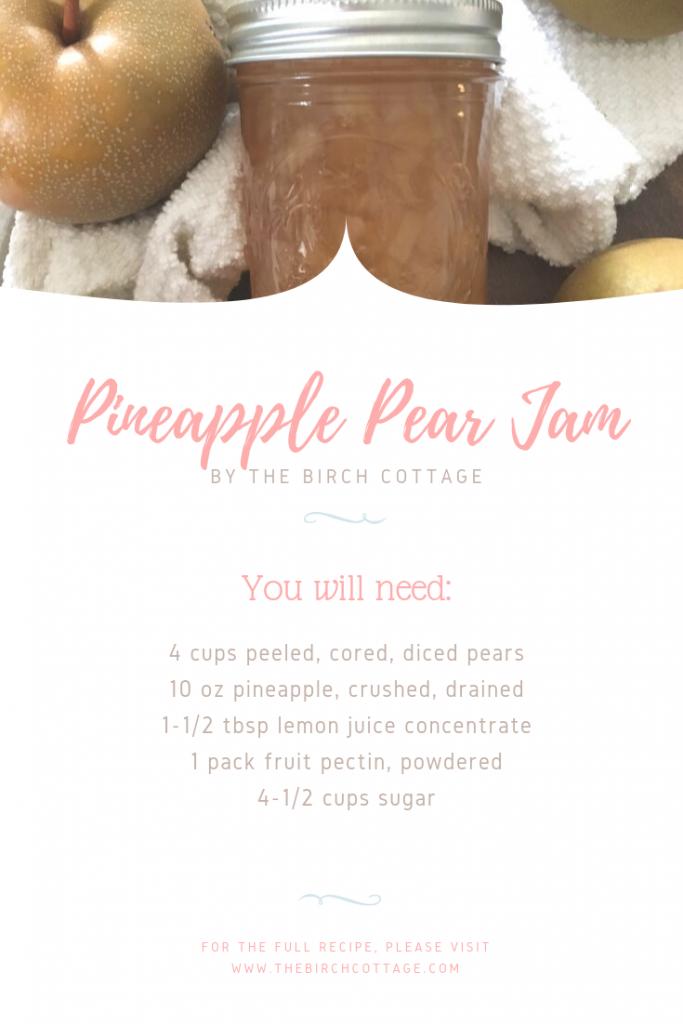 Pineapple Pear Jam Recipe