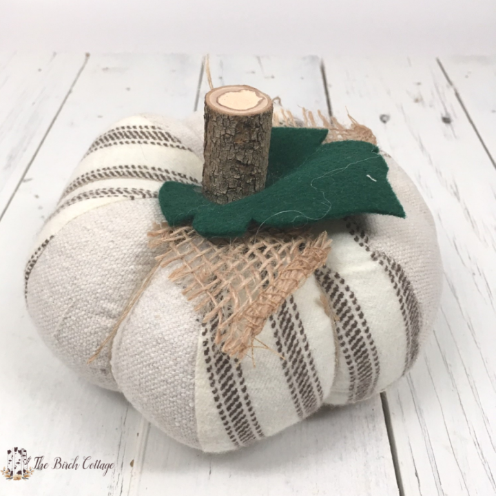 Learn to Sew a Fabric Pumpkin by The Birch Cottage