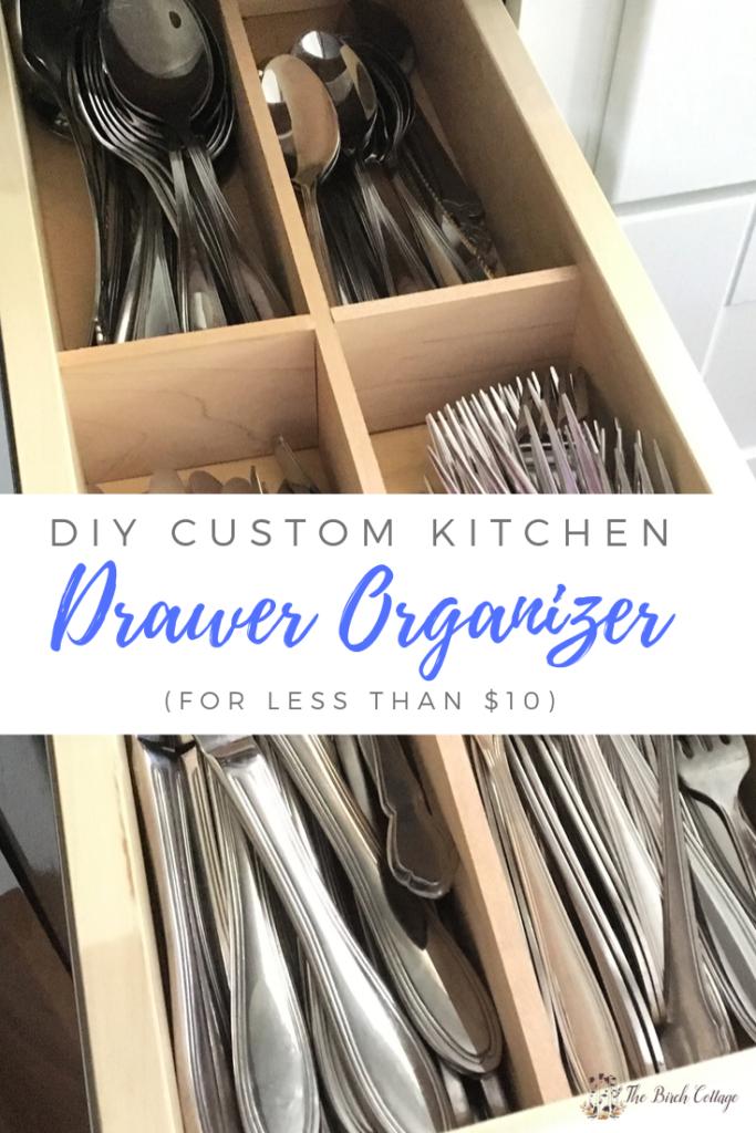 DIY Custom Kitchen Drawer Organizer - The Birch Cottage