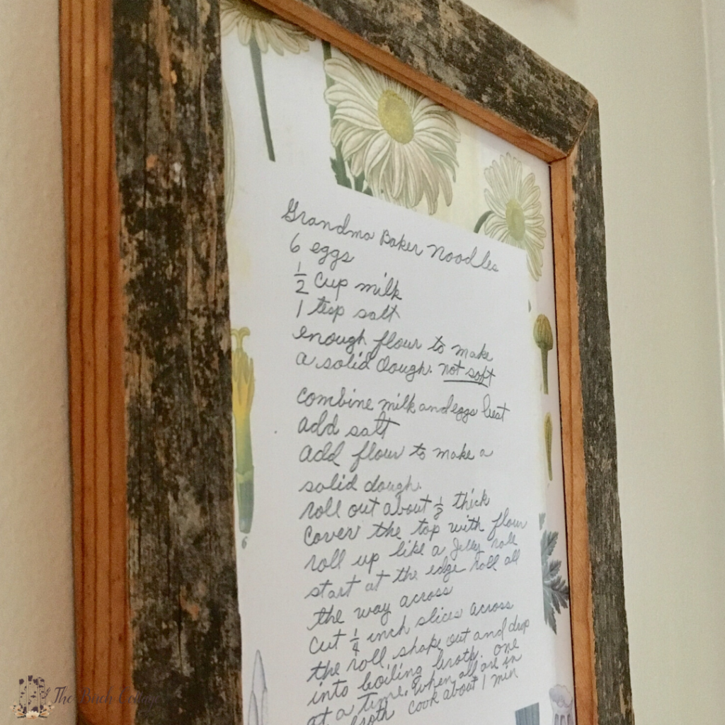 How to Preserve and Display Heirloom Recipe Cards by The Birch Cottage