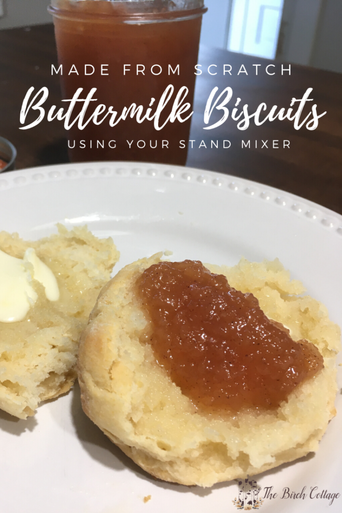 Made from scratch buttermilk biscuits using your stand mixer.
