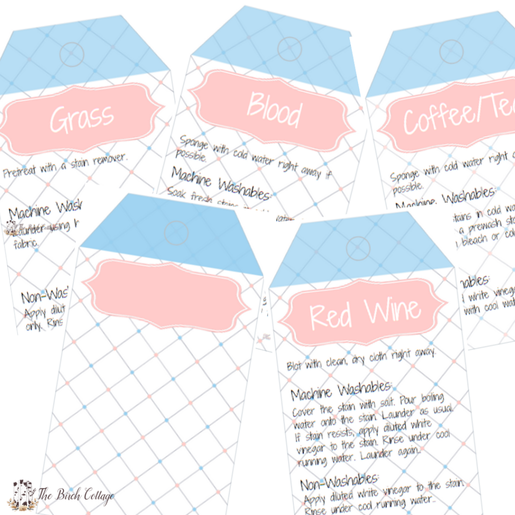 Printable Laundry Care Tags by The Birch Cottage