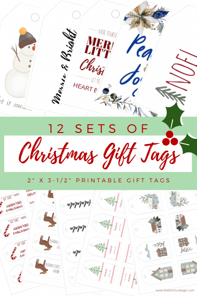 12 Days of Christmas Gift Tags by The Birch Cottage