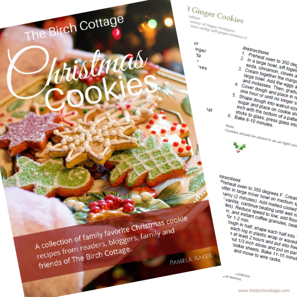 Christmas Cookies Cookbook by The Birch Cottage