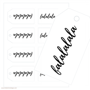 Fa La La La La Christmas Gift Tags by The Birch Cottage