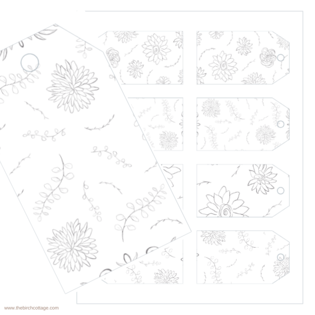 Hand Drawn Flowers Christmas Gift Tags by The Birch Cottage