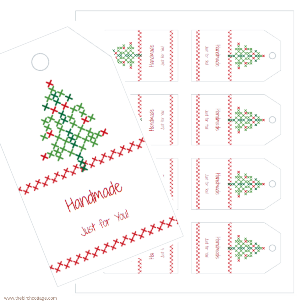 Handmade Just for You Christmas Gift Tags by The Birch Cottage