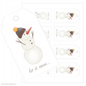 Let It Snow Christmas Gift Tags by The Birch Cottage