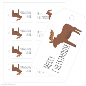 Merry Christmoose Gift Tags by The Birch Cottage