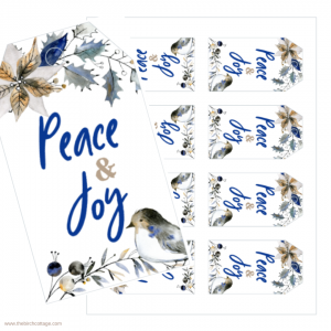 Peace and Joy Christmas Gift Tags by The Birch Cottage