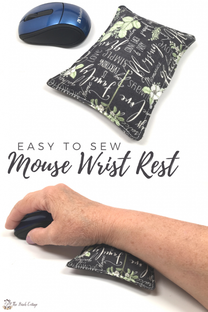 computer mouse and mouse wrist rest