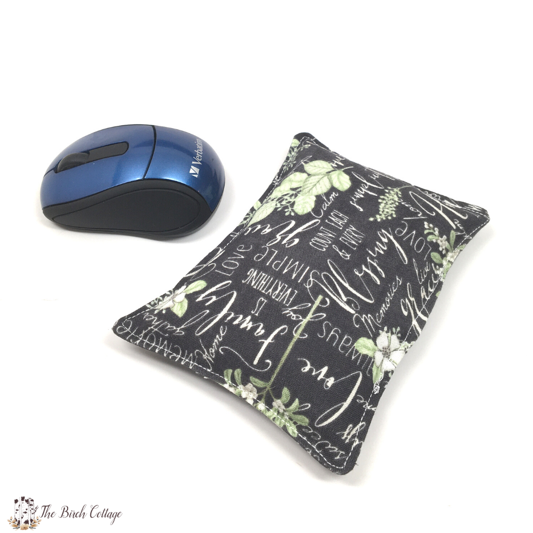 DIY Mouse Pad Wrist Rest - follow along with this easy sewing tutorial to learn how to DIY your very own mouse pad wrist rest.
