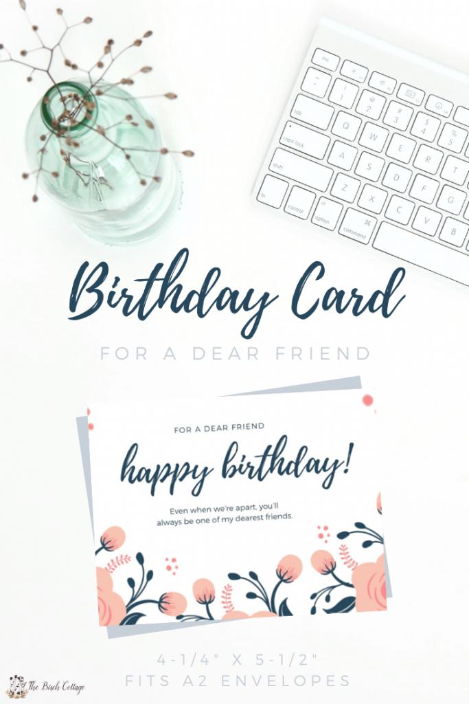 Happy Birthday To A Dear Friend Social Distancing Birthday Card The Birch Cottage