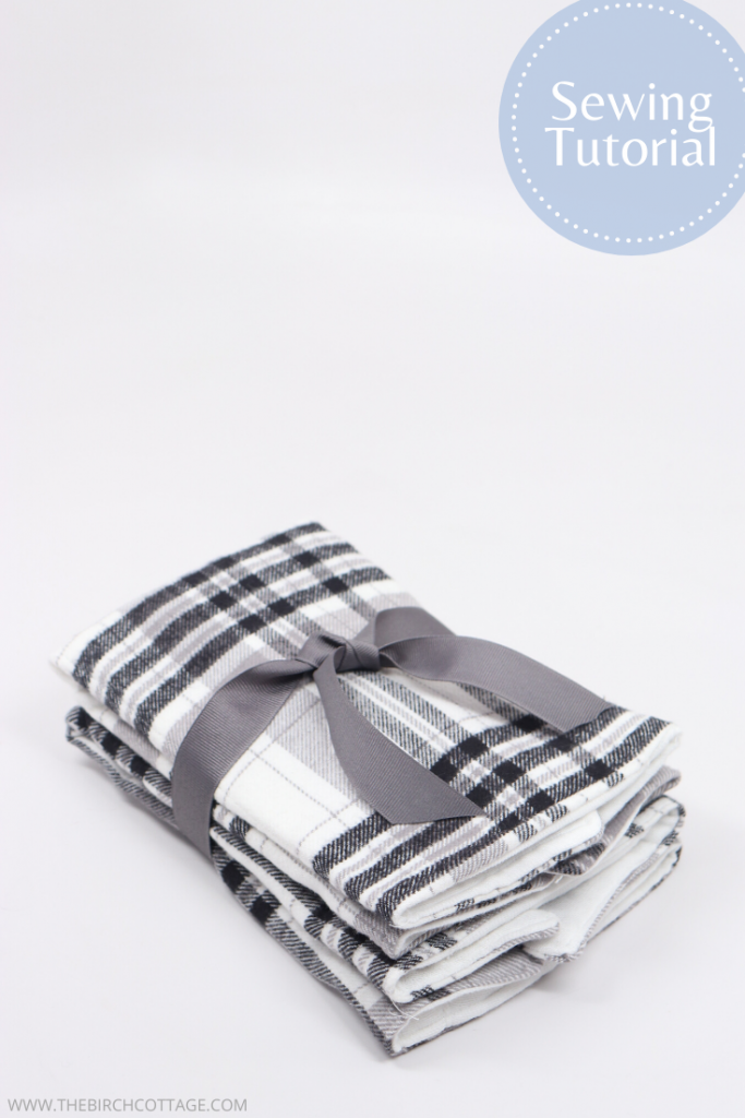 flannel burp cloths with ribbon