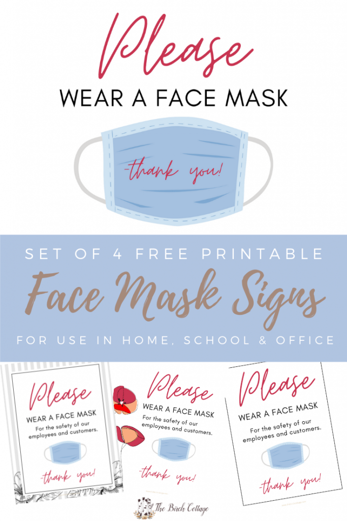4 Please Wear a Face Mask signs