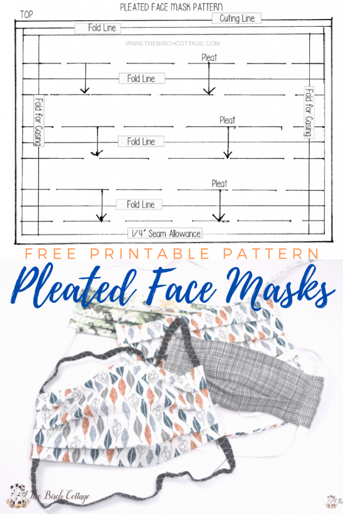 Pleated Face Mask Pattern