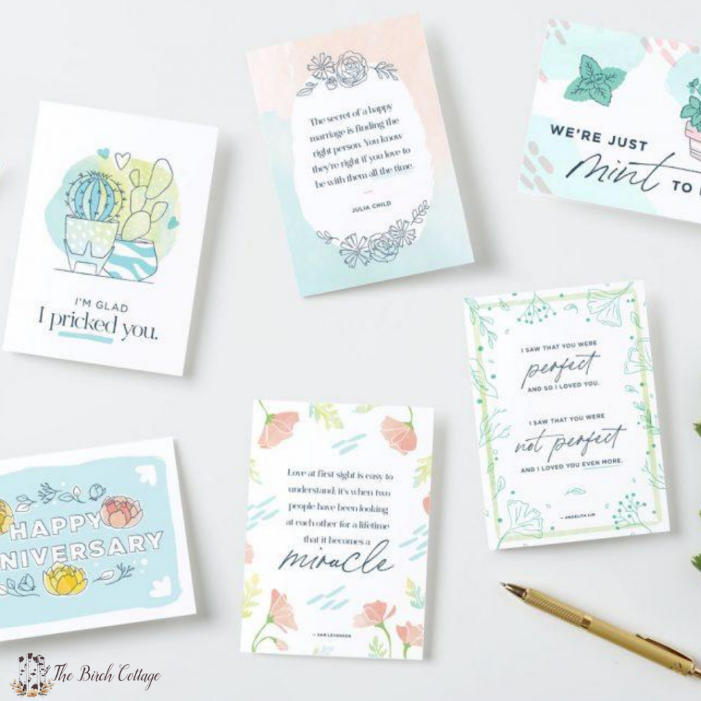 To show your spouse or a couple that you appreciate how much you love them, FTD created six adorable anniversary cards that you can print out at home.