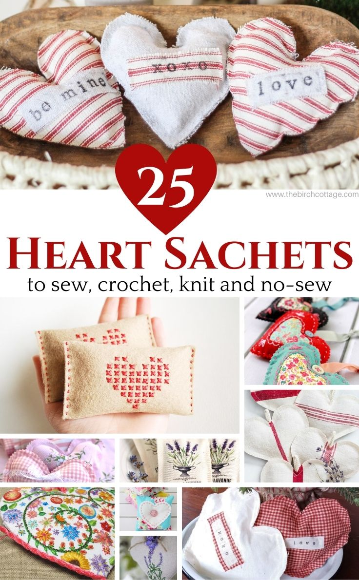 With these 25 DIY Heart Sachets to make for Valentine's Day ideas, you're sure to find a heart sachet to sew, crochet, knit or no-sew to make for your Valentine!