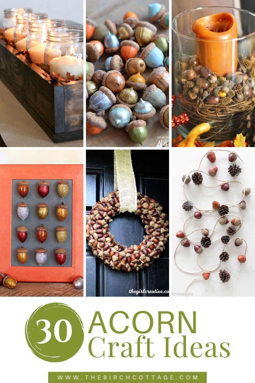 various acorn crafts