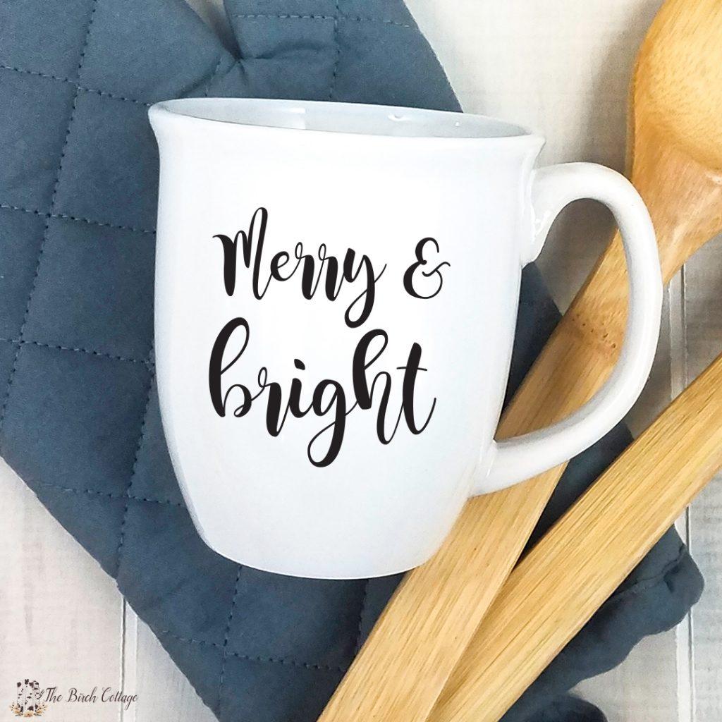 mug with merry & bright