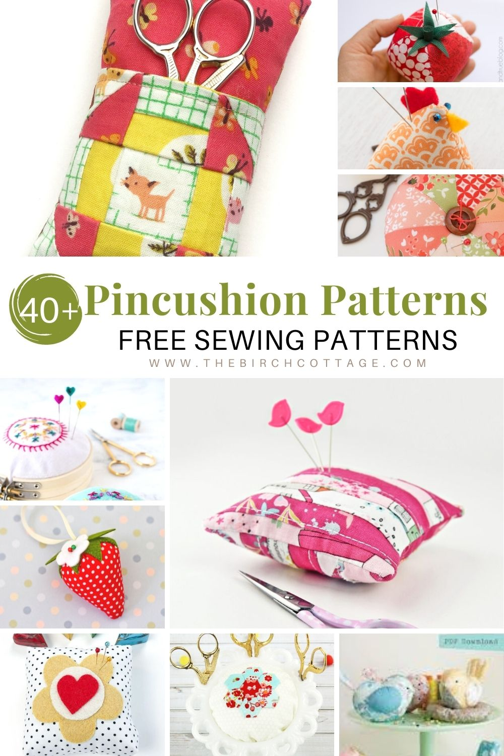 A collection of pincushions