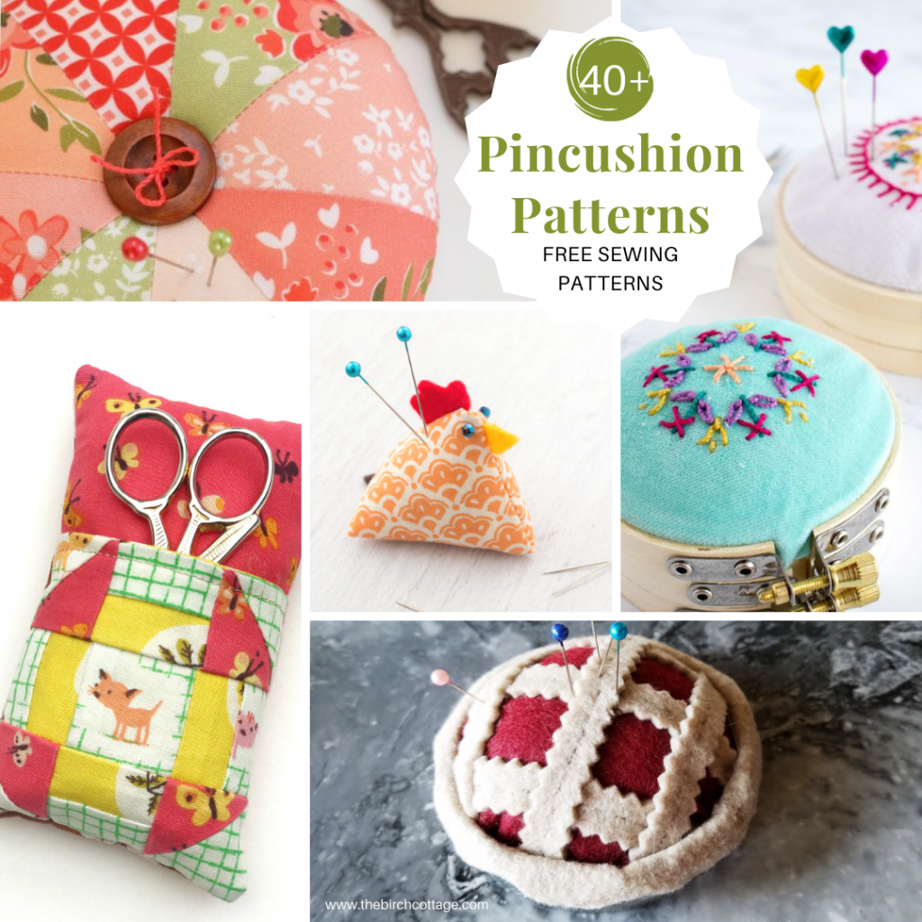 Sew a pincushion with this collection of over 40 free pincushion patterns and tutorials. Pincushions are easy to sew and perfect to gift!