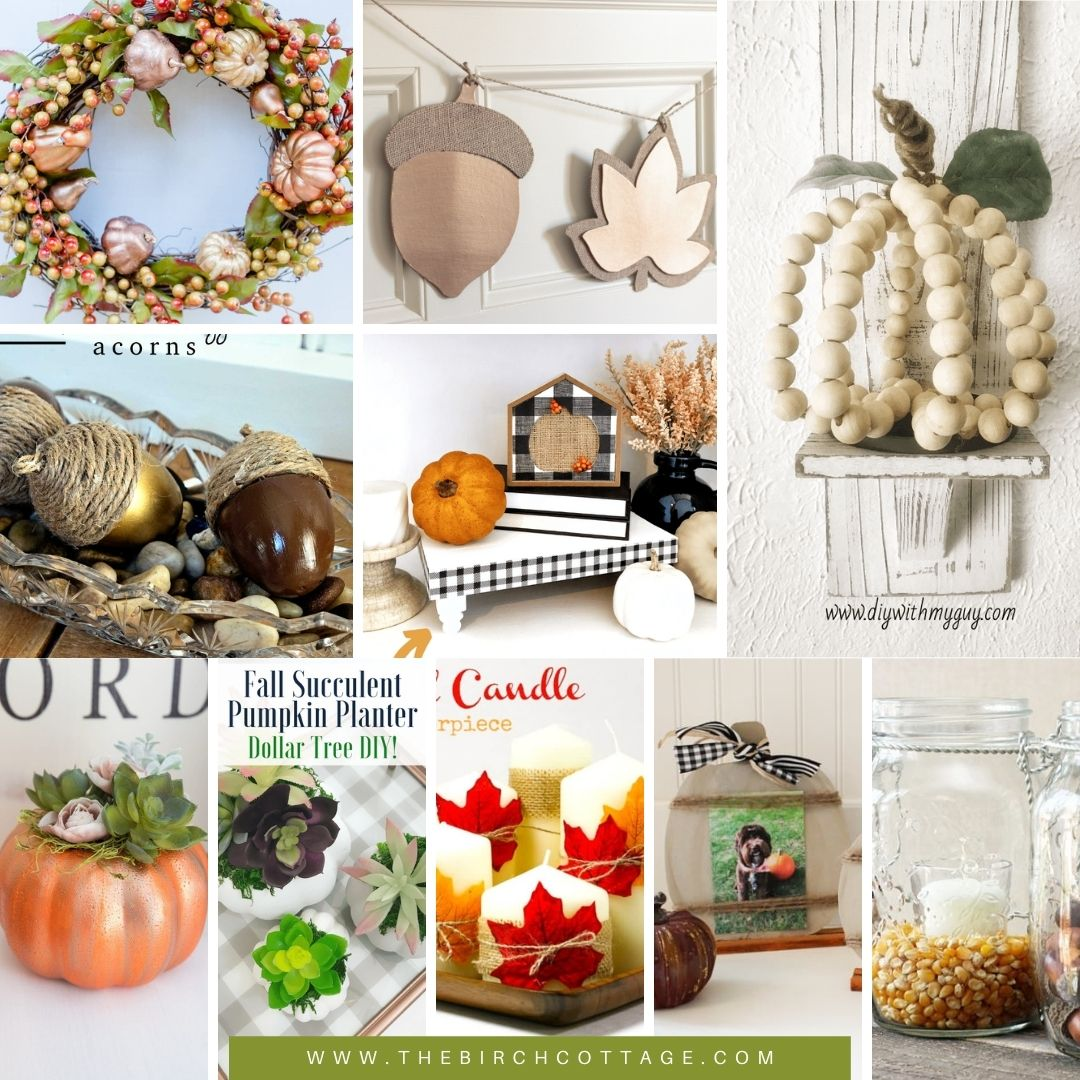 It's no secret that you can save money with Dollar Tree. And to help you prepare your home for fall decorating here is a collection of 50 Dollar Tree Hacks for Fall Decorating.