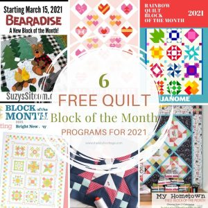 Learn to quilt by joining one of these six Quilt Block of the Month programs that you can participate in during 2021! Quilt of the Month Challenges for 2021!