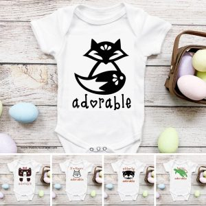 Learn how to use these five adorable animals project files to DIY baby onesies with your Cricut cutting machine and Cricut Design Space.