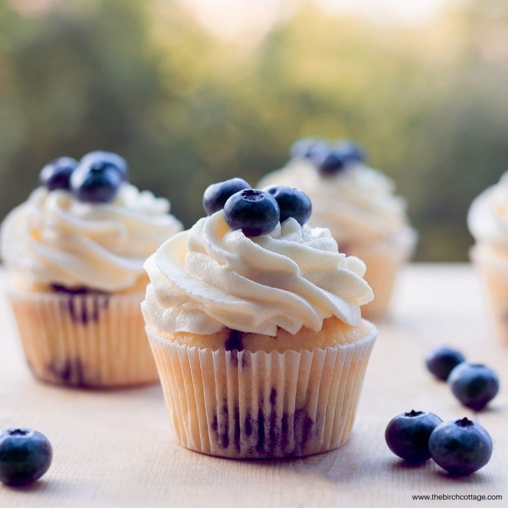 Whether you use fresh or frozen blueberries, you'll love these Blueberry Cupcakes. This recipe only makes 12 Blueberry Cupcakes.