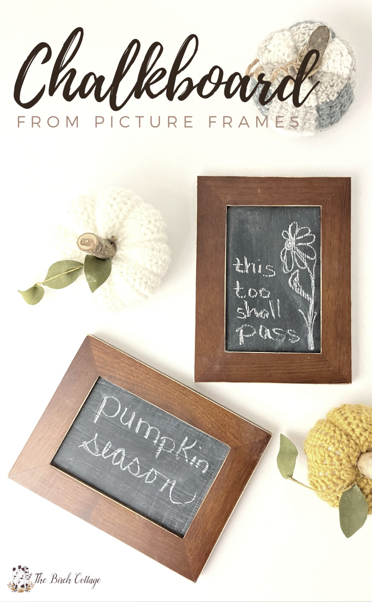 Learn how to make a framed chalkboard from an old or thrifted picture frame to add warmth, charm and functionality to your home.
