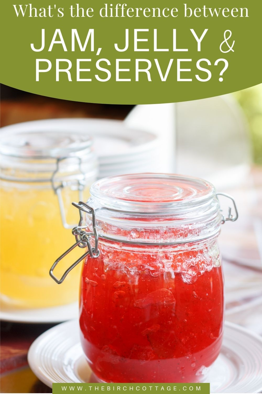 jars of preserves and jam