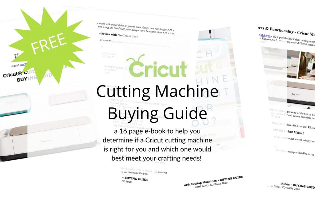 Cricut cutting machine buying guide