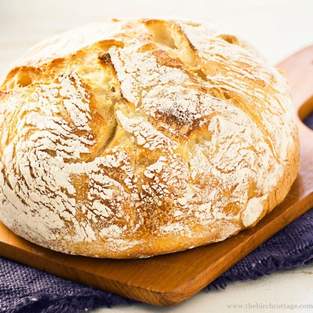 This easy to make sourdough starter bread recipe is a no-knead recipe. You can feed and make this easy sourdough bread recipe in one day.
