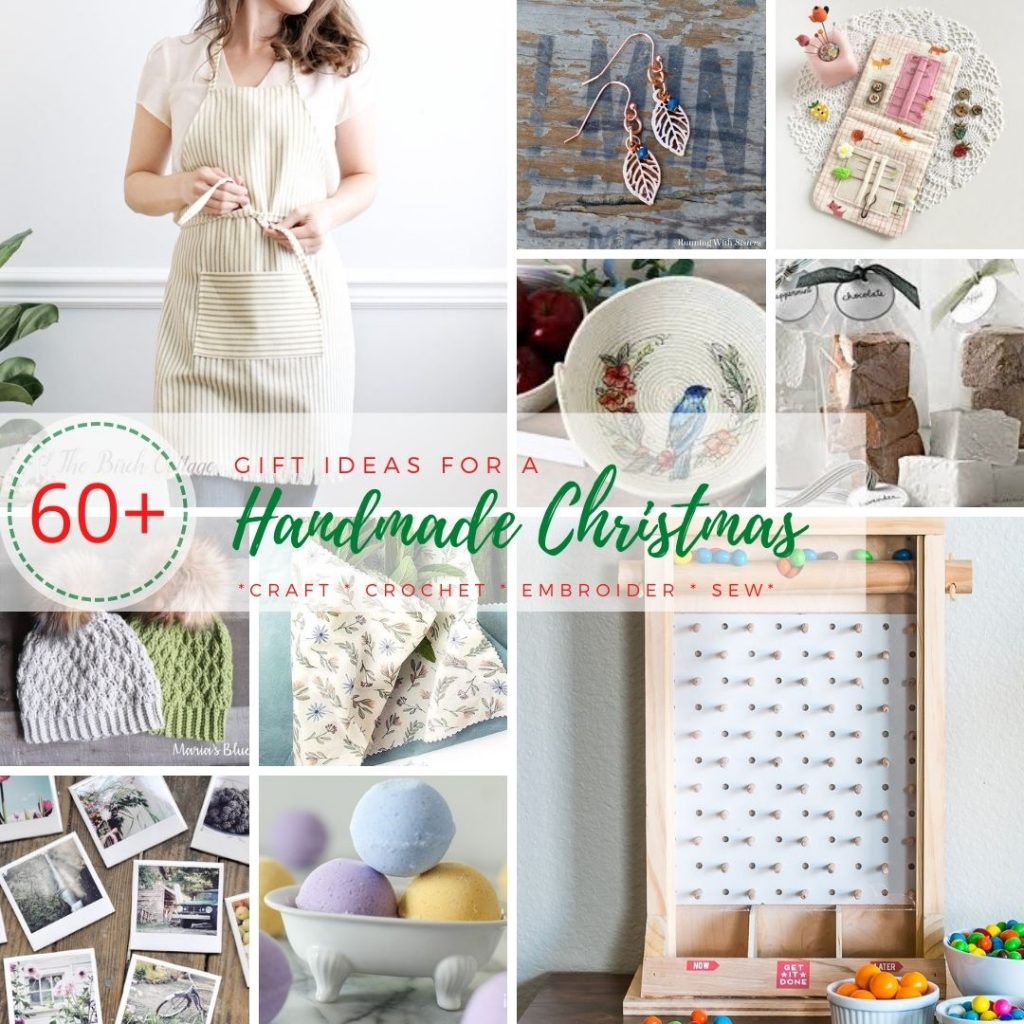 A collection of 60+ handmade Christmas gift ideas. Whether you like to craft, crochet, embroider or sew - handmade gifts are the best!