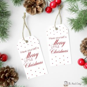 Download this free set of printable Have Yourself a Merry Little Christmas gift tags. Perfect for all your Christmas gift giving!