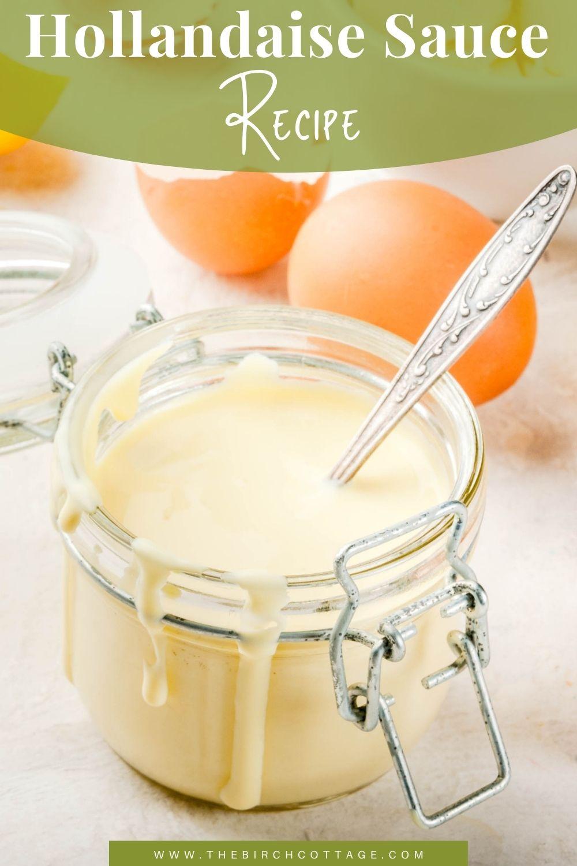 hollandaise sauce in a jar