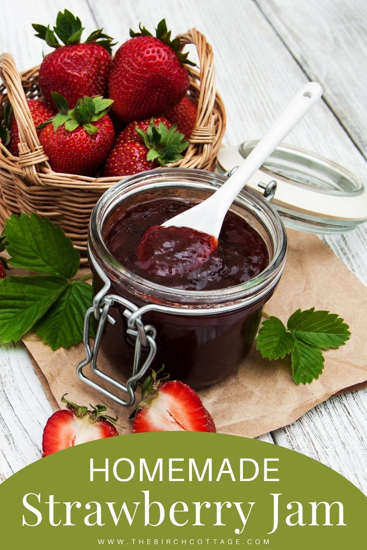 strawberry jam with strawberries