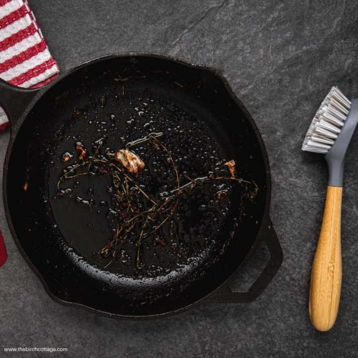 Learn how easy it is to clean a cast iron skillet or cookware. Use these cleaning tips to overcome your cast iron cookware intimidation.