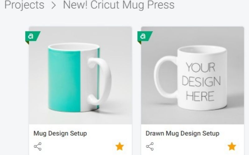 Cricut Design Space with mug project