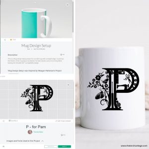 Learn how easy it is to combine two or more projects in Cricut Design Space into one project; super useful with the Cricut Mug Press designs!