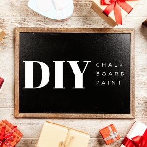 Follow this easy DIY Chalkboard Paint tutorial to learn how to turn any latex paint into custom chalkboard paint!