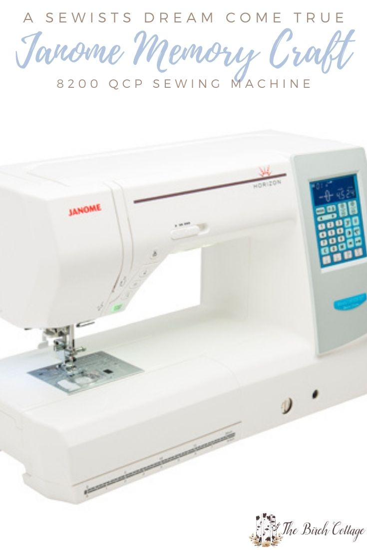The Janome Horizon Memory Craft 8200 QCP Sewing Machine is is a sewists, seamstress and quilters computerized sewing machine dream come true!